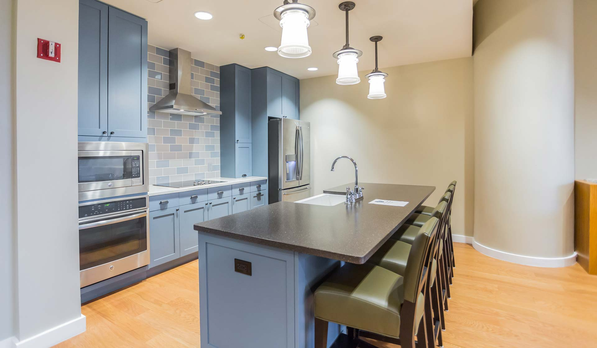 Locust on the Park - Philly Apartments for rent - demonstration kitchen